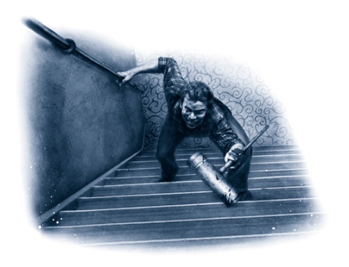 jack coming up the stairs_the shining